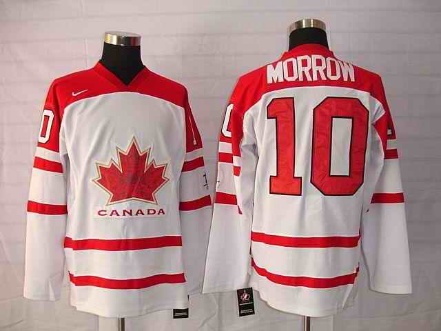 Canada 10 Morrow White Jerseys
