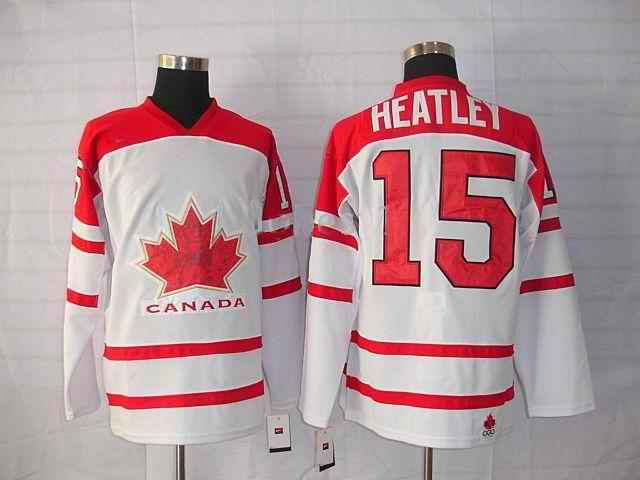 Canada 15 Heatley White Jerseys