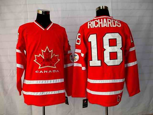 Canada 18 Richard Red Jerseys