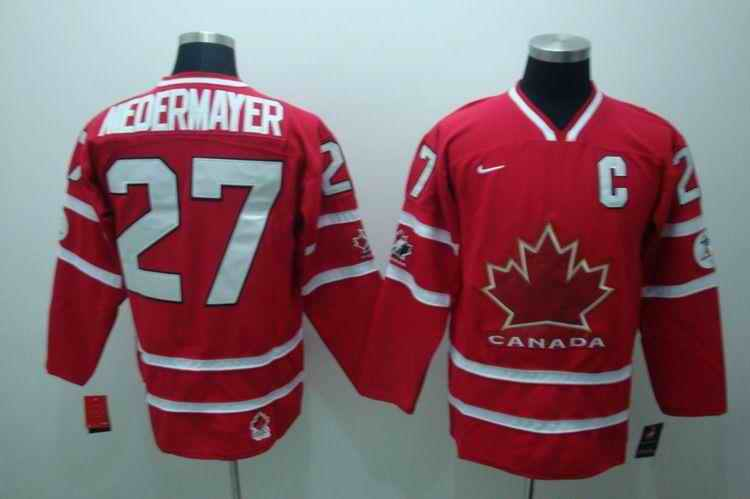 Canada 27 Meoermayer Red Jerseys
