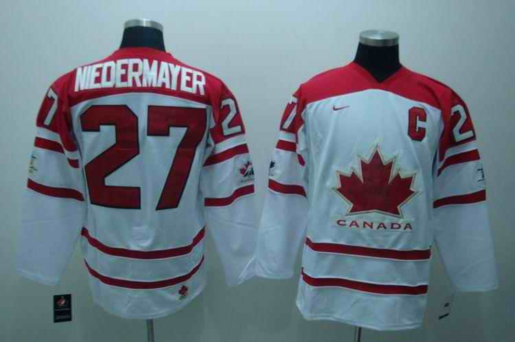 Canada 27 Meoermayer White Jerseys