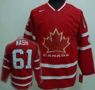 Canada 61 NASH Red Jerseys