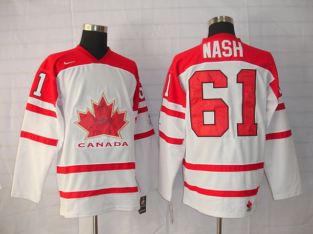 Canada 61 NASH White Jerseys