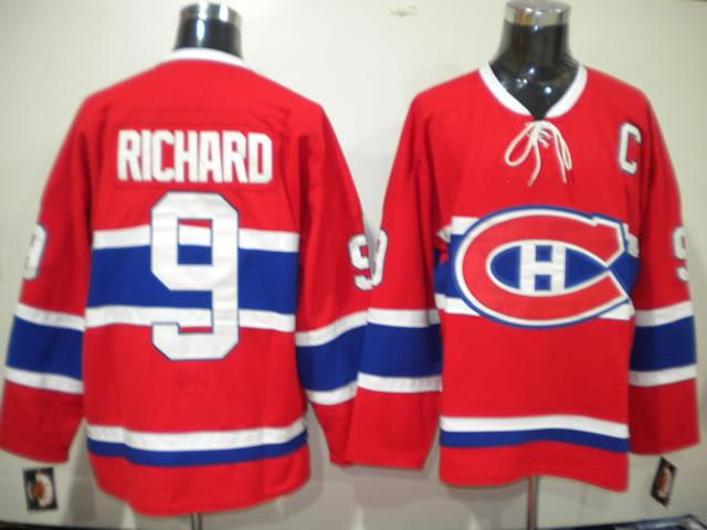 Canadiens 9 Richard red CH Jerseys