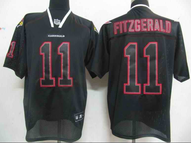 Cardinals 11 Fitzgerald black field shadow Jerseys