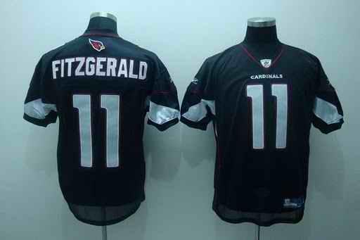 Cardinals 11 Larry Fitzgerald Black Jerseys