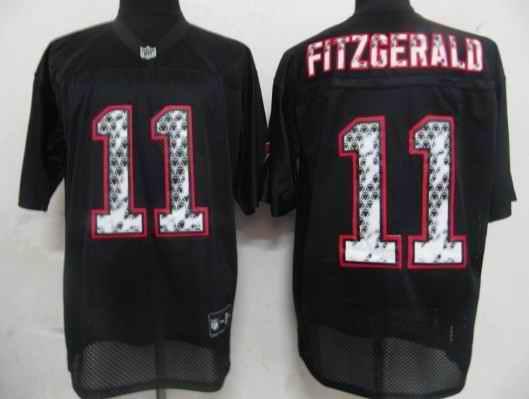 Cardinals 11 Larry Fitzgerald black united sideline Jerseys