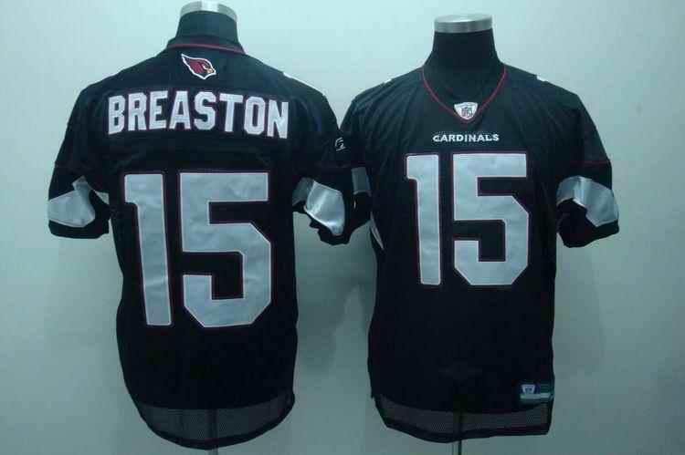 Cardinals 15 Steve Breaston black Jerseys