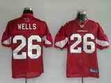 Cardinals 26 Beanie Wells Red Jerseys