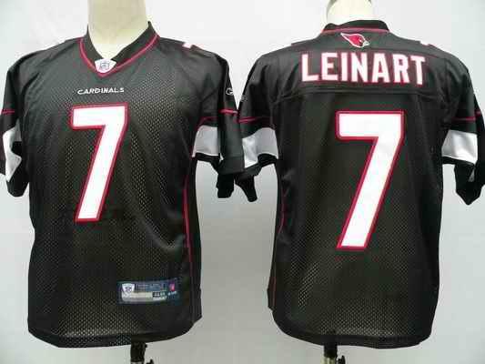 Cardinals 7 Matt Leinart black jerseys