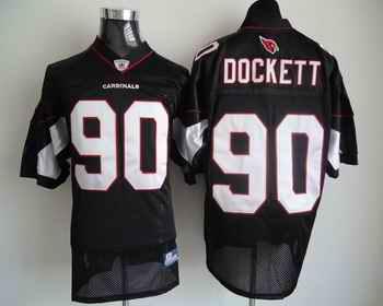 Cardinals 90 Darnell Dockett black Jerseys