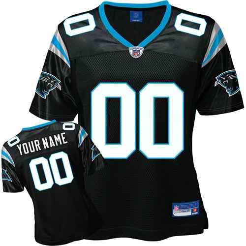 Carolina Panthers Women Customized Black Jersey