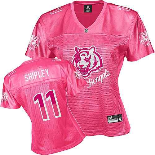 Cincinnati Bengals 11 SHIPLEY pink Womens Jerseys