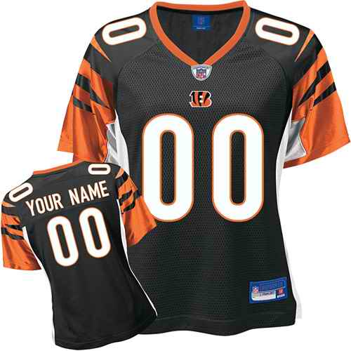 Cincinnati Bengals Women Customized Black Jersey