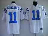 Colts 11 Gonzalez White Jerseys