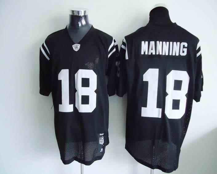 Colts 18 Peyton Manning black Jerseys