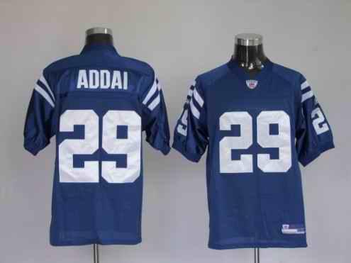 Colts 29 Joseph Addai Blue Jerseys