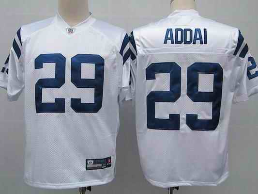 Colts 29 Joseph Addai white Jerseys