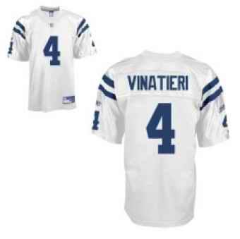 Colts 4 Adam Vinatieri White Jerseys