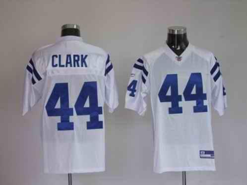 Colts 44 Clark White Jerseys