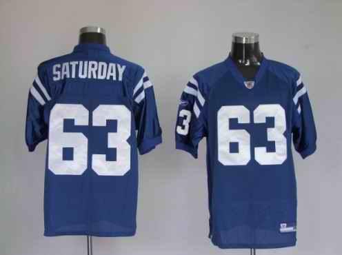 Colts 63 Saturday Blue Jerseys
