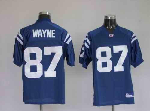 Colts 87 Reggie Wayne Blue Jerseys