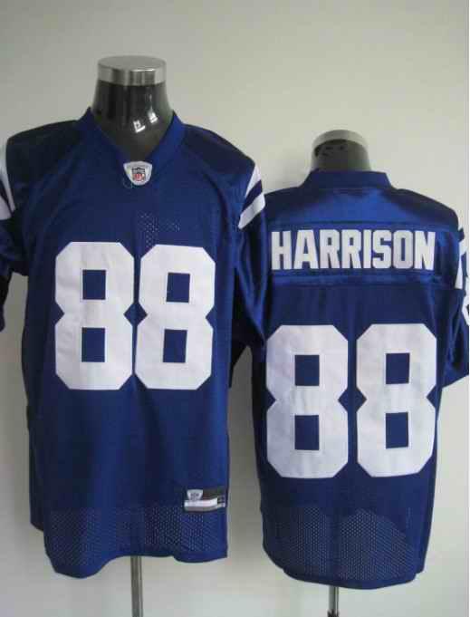 Colts 88 Harrison blue Jerseys