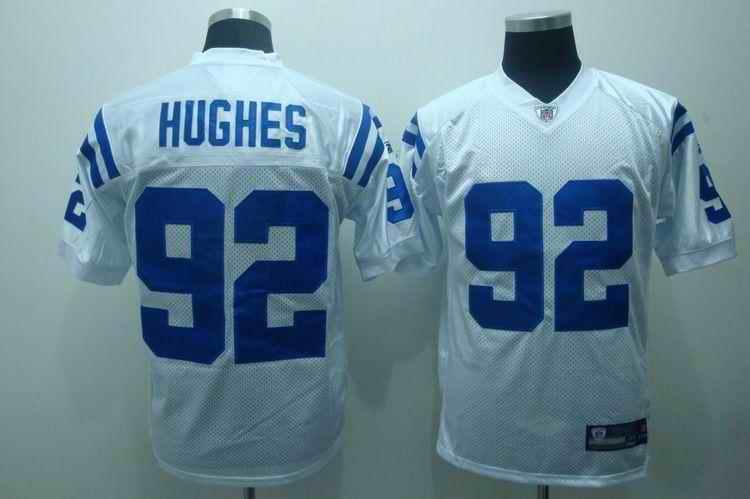 Colts 92 Hughes white Jerseys