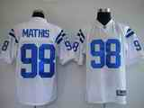 Colts 98 Mathis White Jerseys