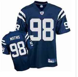 Colts 98 Robert Mathis Blue Jerseys