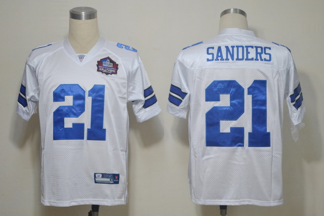 Cowboys 21 SANDERS White M&N 2012 Hall of Fame Jerseys