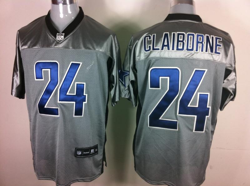 Cowboys 24 Claiborne Grey Jerseys