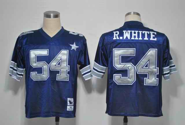 Cowboys 54 R.WHITE Blue silver number