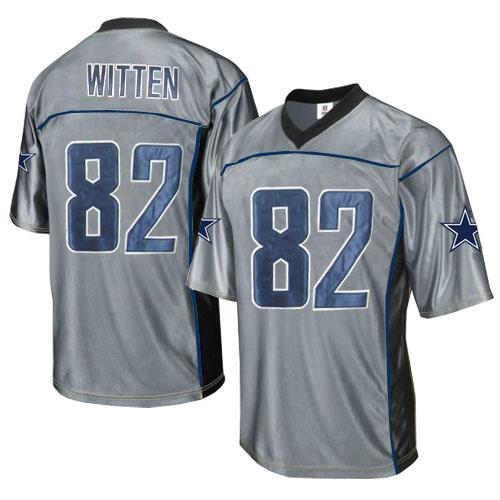Cowboys 82 Witten Grey Jersey