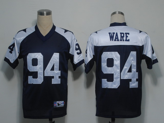 Cowboys 94 DeMarcus Ware Blue Thanksgiving Jerseys