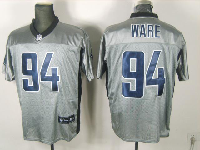 Cowboys 94 Ware Grey Jerseys