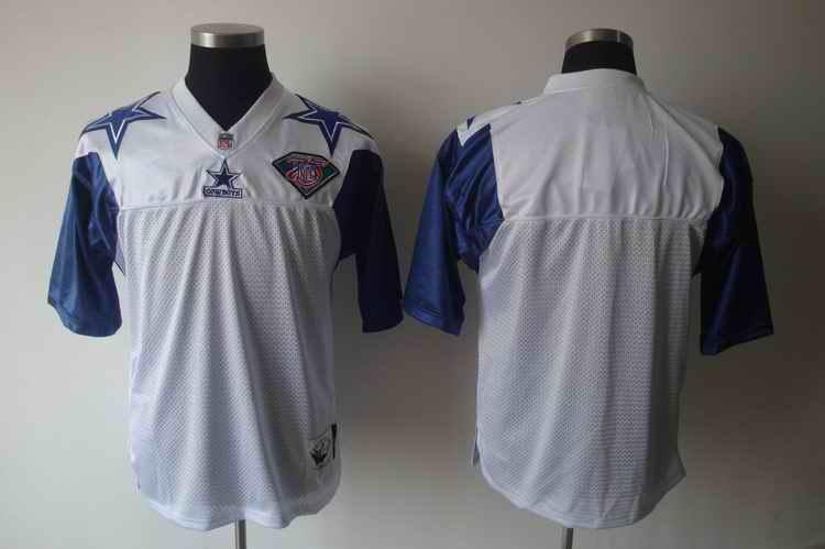Cowboys white 75th blank jerseys