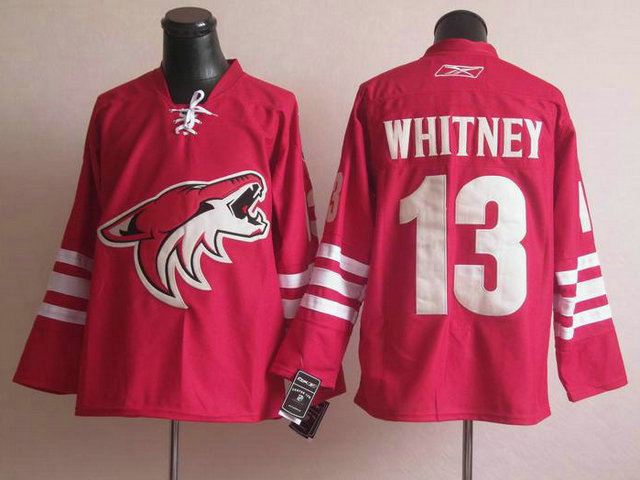 Coyotes 13 Whitney Red Jerseys