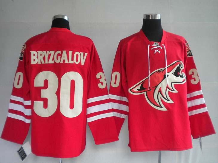 Coyotes 30 Bryzgalov red Jerseys