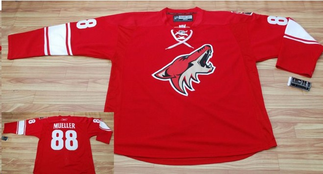 Coyotes 88 Mueller red jerseys