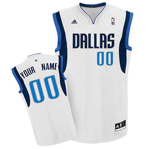 Dallas Mavericks Youth Custom white Jersey