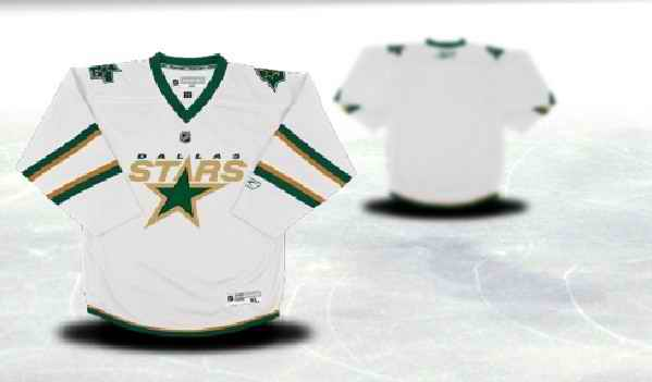 Dallas Stars Youth Customized White Third Jersey