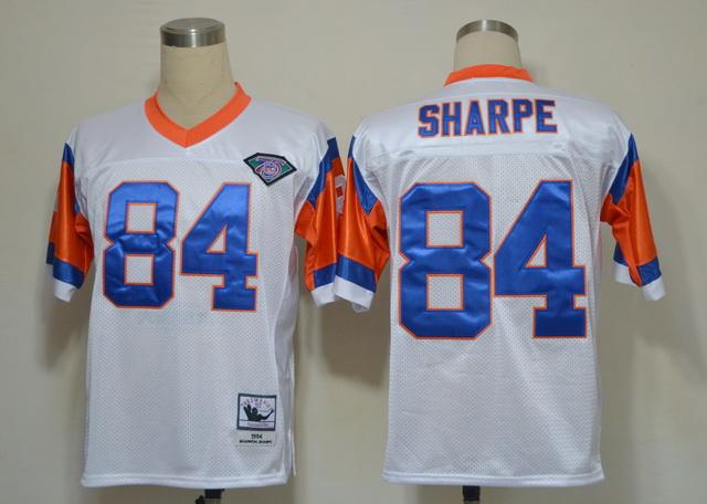 Denver Broncos 84 Shannon Sharpe White M&N 1994 Jerseys