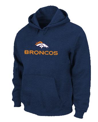 Denver Broncos Authentic Logo Pullover Hoodie D.Blue