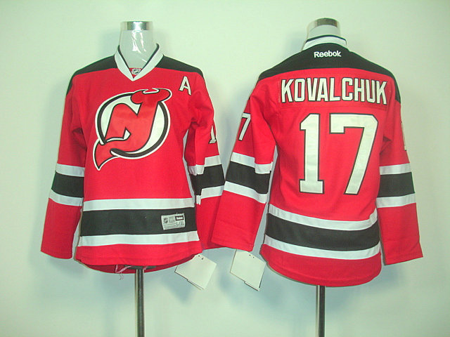 Devils 17 Kovalchuk Red A Patch Jerseys