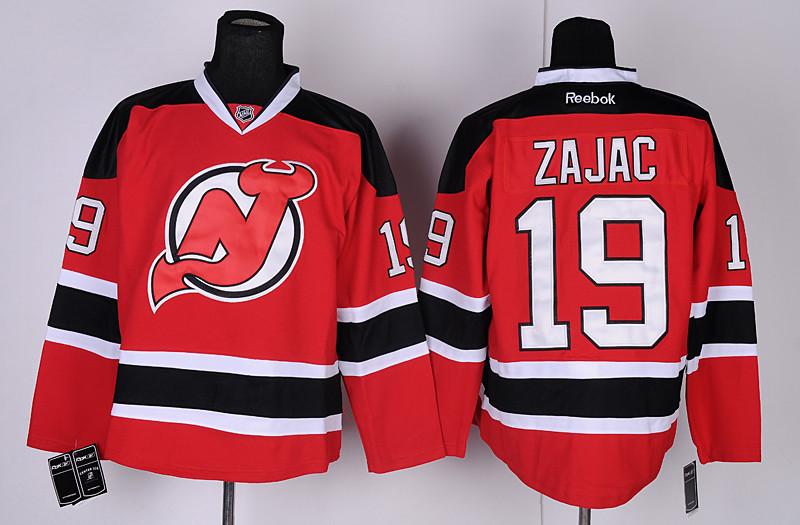 Devils 19 Zajac Red Jerseys