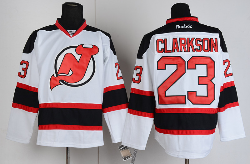 Devils 23 Clarkson White Jerseys