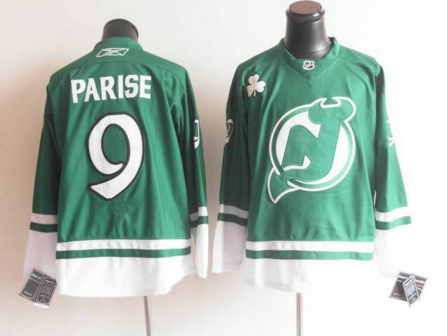 Devils 9 Parise Green Jerseys