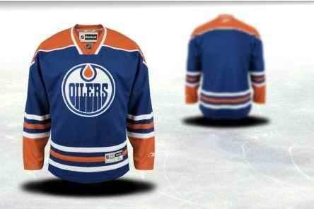 Edmonton Oilers Men Customized Blue Jersey