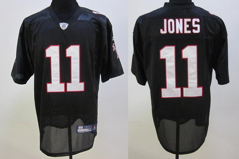 Falcons 11 Jones black Jersey